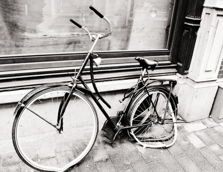 Broken Bicycle on the side of a road