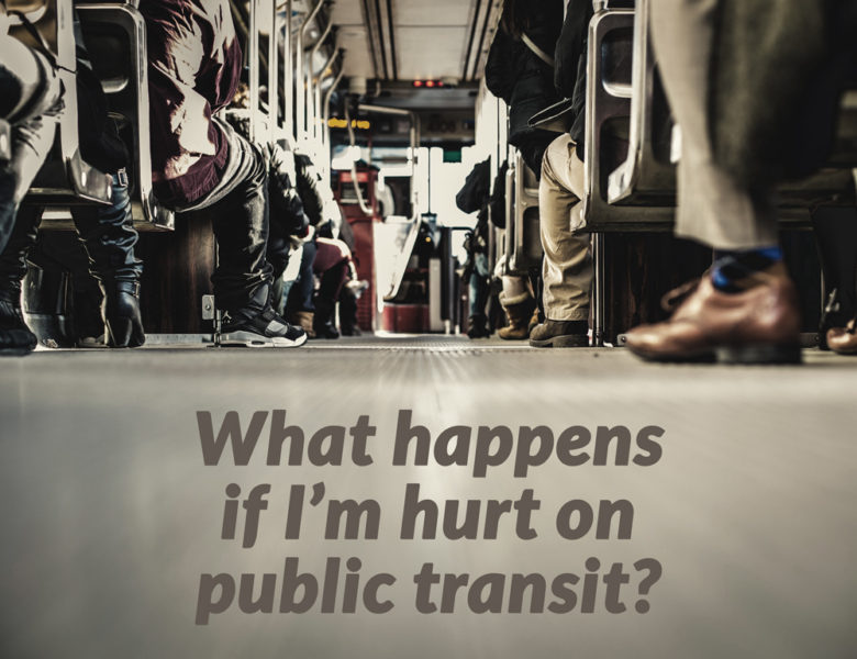 Point of view from someone hurt on public transit