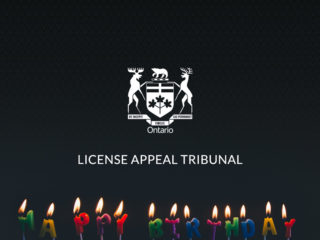 happy birthday candles below Ontario crest