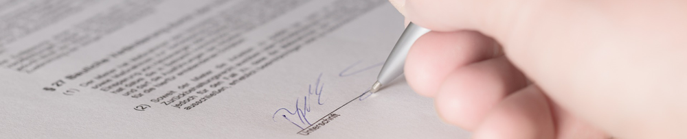 signature on legal policy