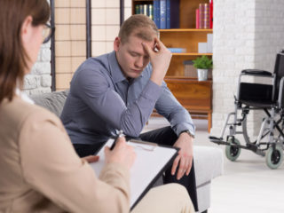 lawyer meets with client about personal injury case
