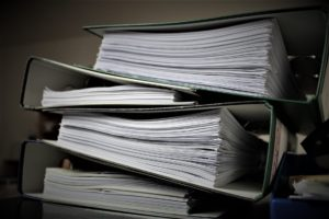 Personal information, stored in binders